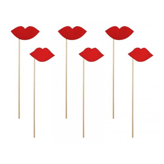 6 Sticks lèvre rouge