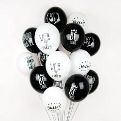 5 ballons de baudruche à message