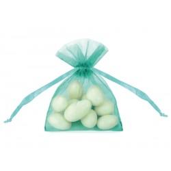 20 petites pochettes organza- tiffany blue
