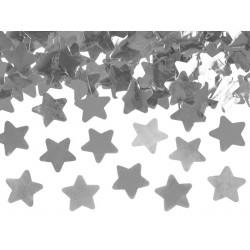 Canon à confetti étoile argent 40cm