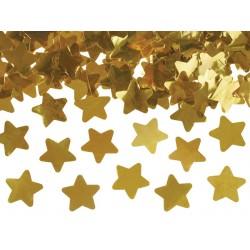 Canon à confetti étoile or 40cm