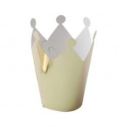Mini couronnes dorées