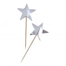 10 toppers étoile argent