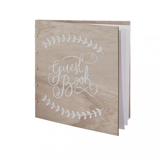 Guest book livre d'or en bois