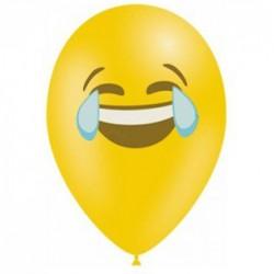10 ballons émojis pleure de rire