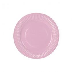 6 petites assiettes - Rose clair