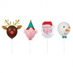 Kit ballons personnages de noël
