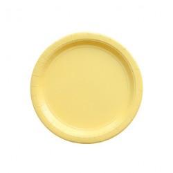 24 petites assiettes jaunes