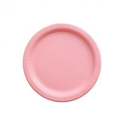 24 petites assiettes roses