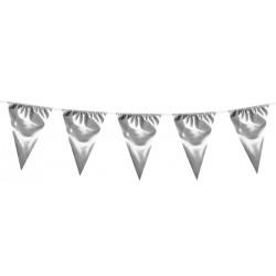 Guirlande fanions en plastique argent