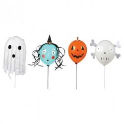 4 ballons halloween