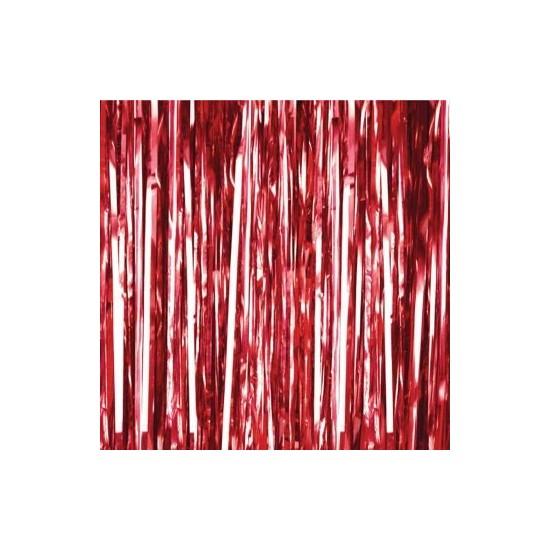 Rideau rouge mylar