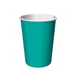 24 gobelets en carton - turquoise