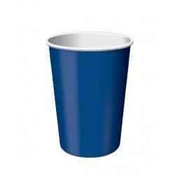 24 gobelets en carton - bleu navy