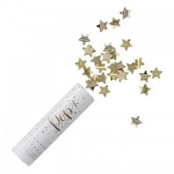 1 canon à confettis étoile dorée