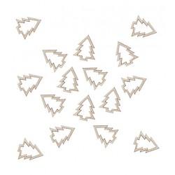 Confettis sapin en bois