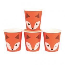 8 gobelets - renard
