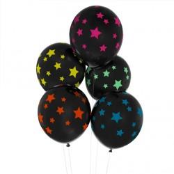 5 ballons tatoués - étoiles disco
