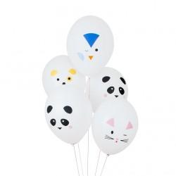 5 ballons tatoués - mini-animaux