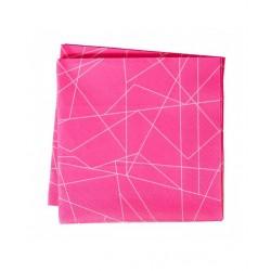 20 serviettes rose géométrique