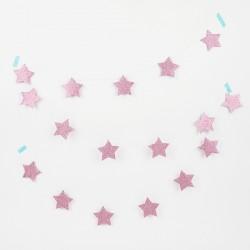 Guirlande - Etoile rose glitter