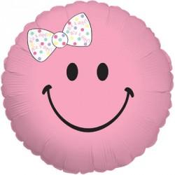 1 ballon mylar smiley baby girl
