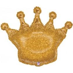 1 ballon mylar couronne glitter
