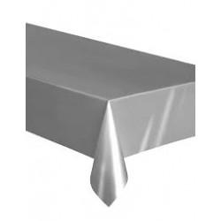 1 nappe plastique -argent 137x275cm