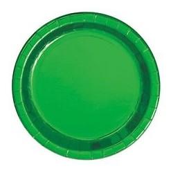 8 assiettes - Vert métallisé