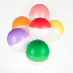 6 ballons - Bicolores