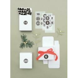 24 boîtes blanches  - Calendrier de l'Avent