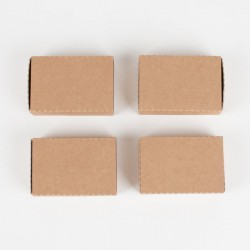 4 petites boîtes cadeaux  kraft