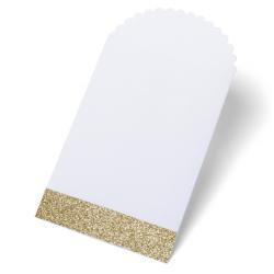 8 pochettes - glitter or