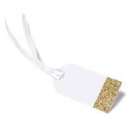 8  gift tags- glitter or