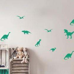 Box stickers dinosaures vert