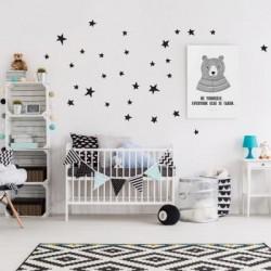 Box stickers étoiles noir