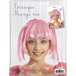 1 perruque manga rose