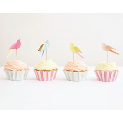 Kit cupcake oiseaux