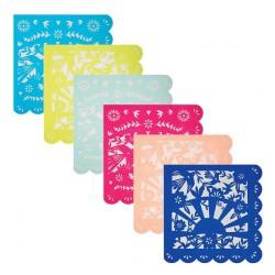 20 petites serviettes fiesta