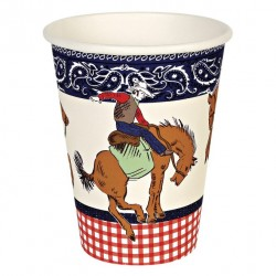 12 gobelets - Cowboy