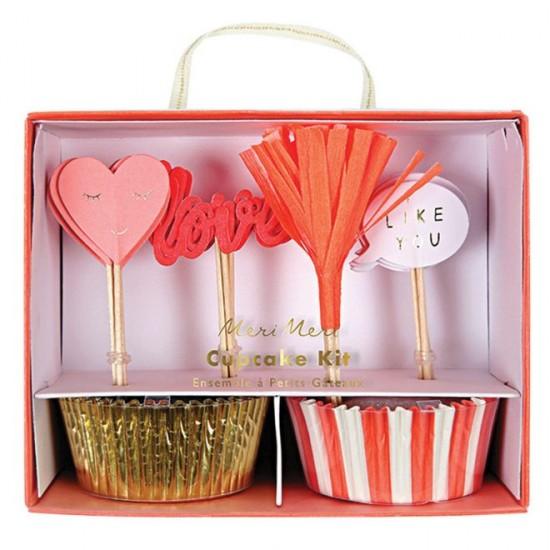 Kit cupcake love-Saint-Valentin