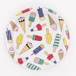 8 assiettes - glaces