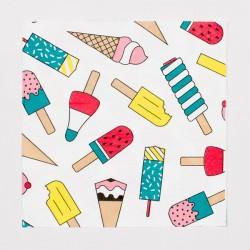 20 serviettes - glaces