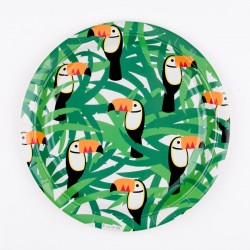 8 assiettes - toucan