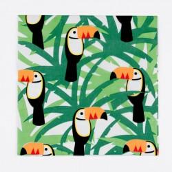 20 serviettes- toucan 33x33cm