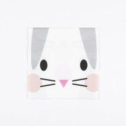 20 petites serviettes - Mini lapin