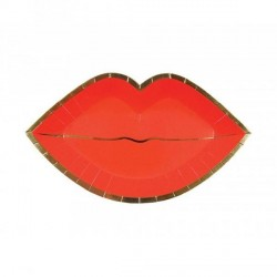 8 assiettes red lips-kiss