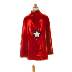 Cape réversible de super héro rouge et or 5-6 ans