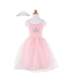 Robe princesse rose et diadème 5-6 ans