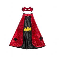 Cape et masque réversible Batman-Spiderman 4-6 ans